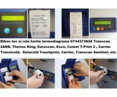 Ribon tus si rola hartie pentru inregistrator temperatura Transcan, Thermo King  Carrier, Data Cold,