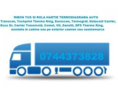 Tus ribon si role hartie termodiagrame Transcan, Thermo King, Euroscan, Datacold Carrier, Termograf,